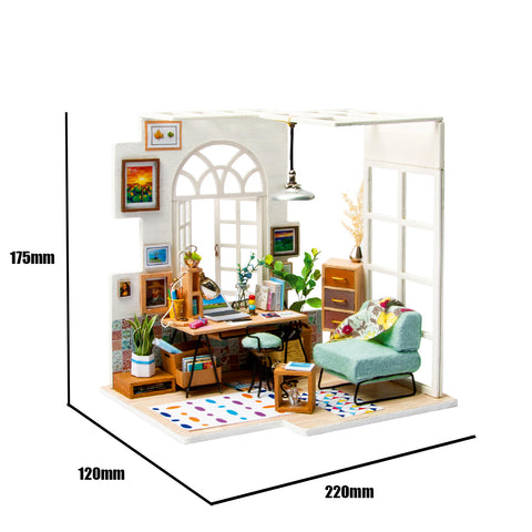 Robotime DIY Mini Dollhouse Building Kit- SOHO time DGM01