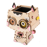Cute Flower Pot - 3D Wooden Puzzle - Building Kits Toy Kitty FT731