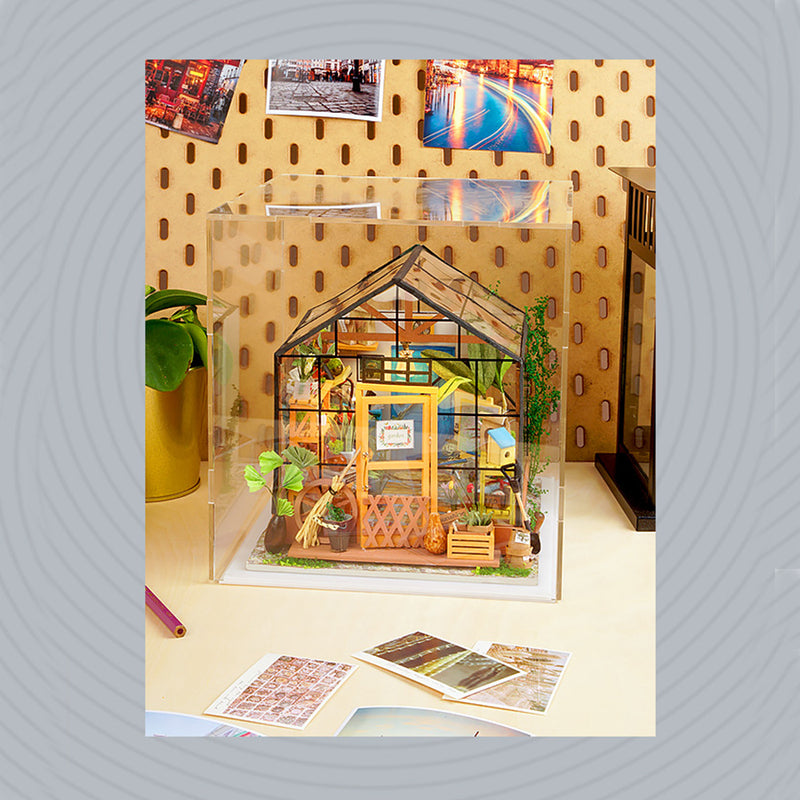 Acrylic Dust Cover for Robotime DIY Miniature Dollhouse DGM01-06