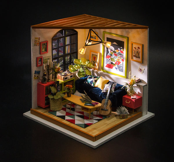 Robotime Diy Miniature Dollhouse Kit Dg106 Locus S Sitting