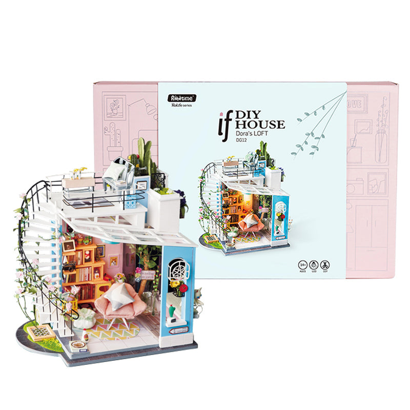 Dora's Loft DG12 DIY Miniature Dollhouse Duplex Apartment
