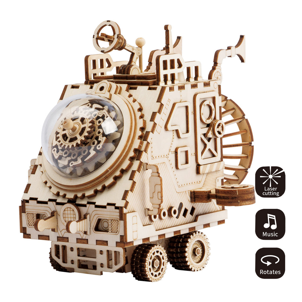 Steampunk Music Box- AM681-Spaceship