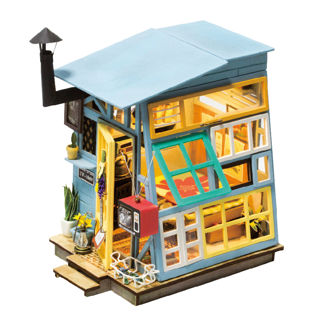 Robotime Diy Mini Dollhouse Building Model Home Decoration Toys