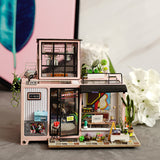 Robotime New Arrival - Dollhouse Series - Kevin's Studio with LED light DG13