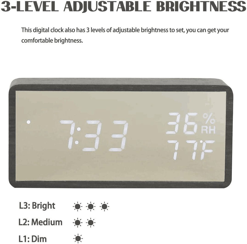 Robotime Concise Digital Alarm Clock