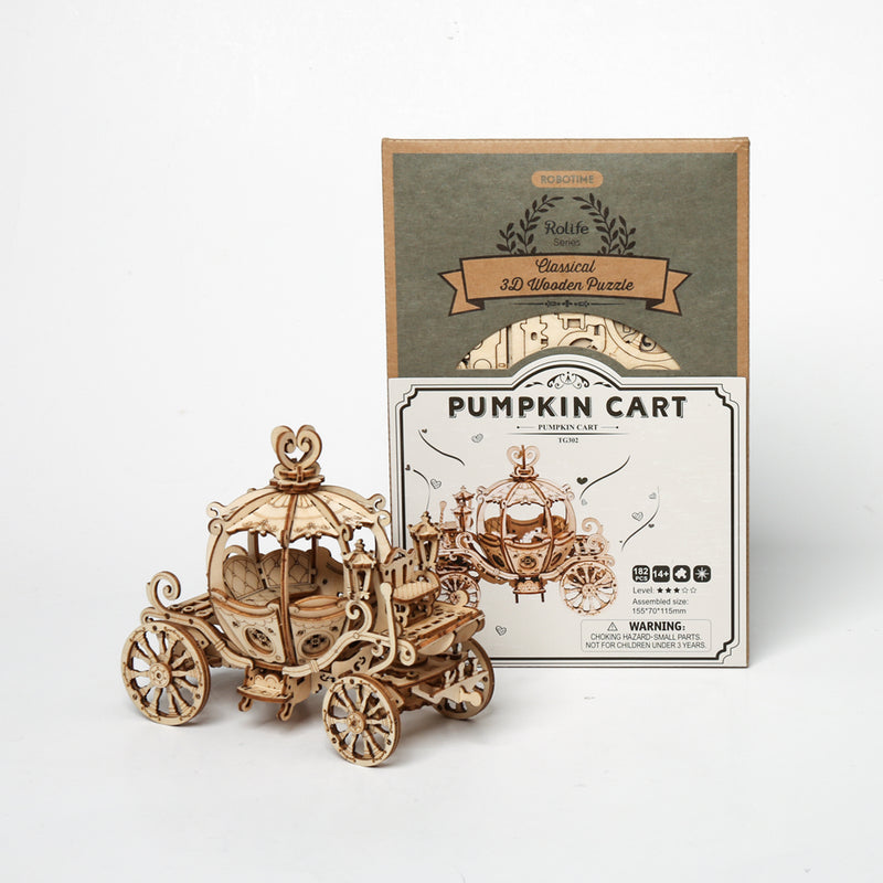 Pumpkin Carriage TG302 - Modern 3D Wooden Puzzle