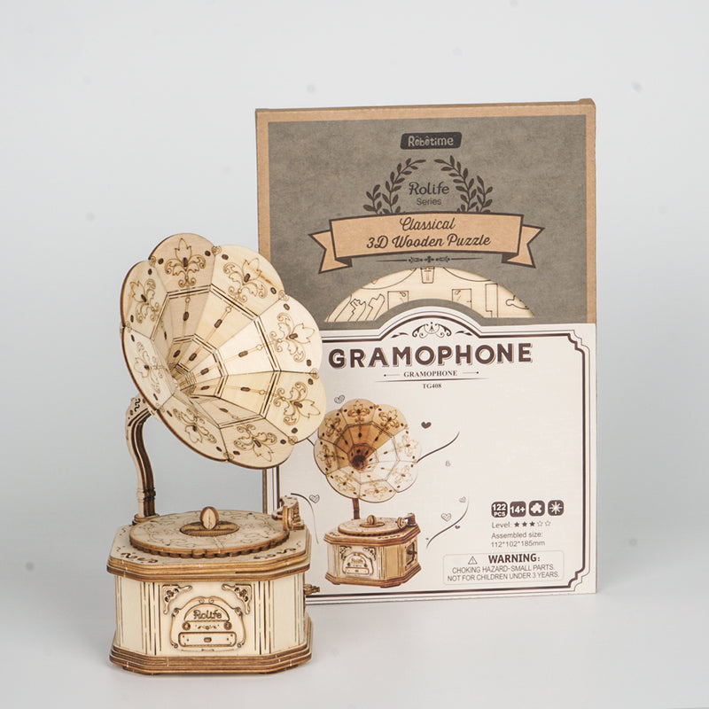Gramophone TG408 - Modern 3D Wooden Puzzle