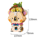 Cute Robot Flower Pot - 3D Wooden Puzzle - Building Kits Toy Koala FT732