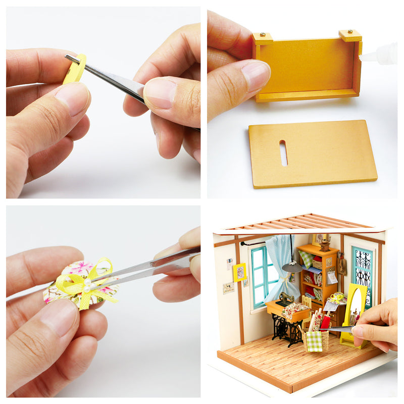 Lisa's Tailor DG101 DIY Sewing Room Miniature