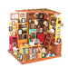 DIY Dollhouse Kit-Sam's Study with LED light