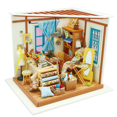 DIY Dollhouse Kit-Lisa's Tailor with LED light