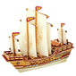 Robotime 3D Wooden Ship Model-BA401S Zhenghe Ship