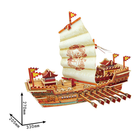 3D Assemble Puzzle Ancient Ship Warship-Ancient Chinese Warship