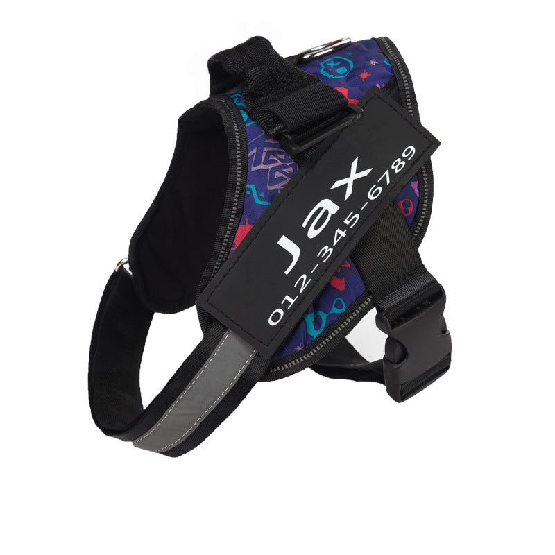 Pattern Style Custom Adjustable Pet Vest Harness