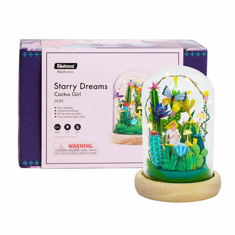 Cactus Girl DC03 - Robotime Starry Dreams Air Dry Clay Kit