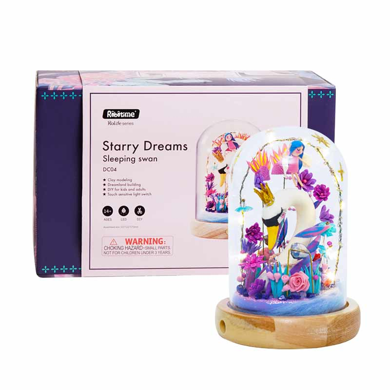 Sleeping Swan DC04 - Robotime Starry Dreams Air Dry Clay Kit