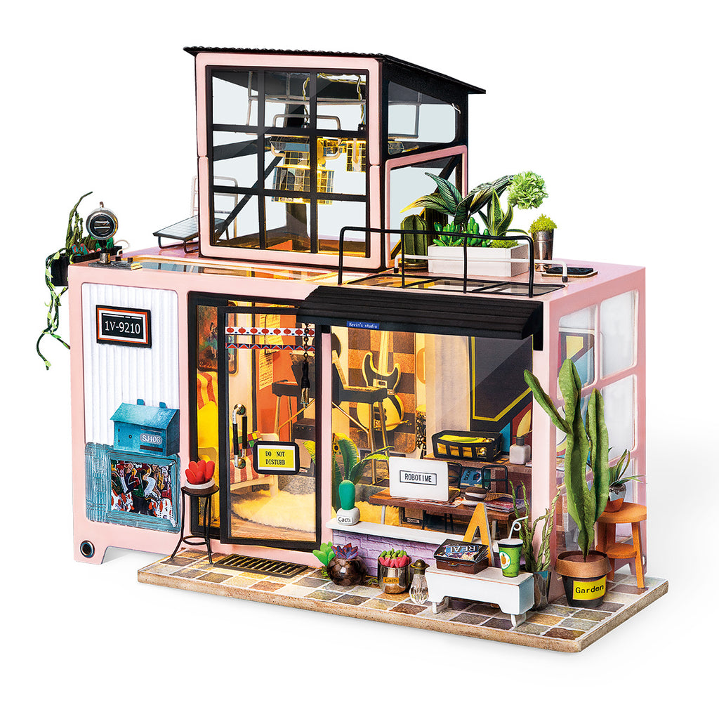 Robotime New Arrival Dollhouse Series Kevin S Studio With Led