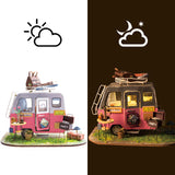 Robotime DIY Mini Dollhouse Building Model Home Decoration toys Happy Camper DGM04