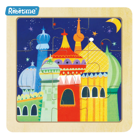Jigsaw Puzzle 9 PCS - Castle Night - DY904