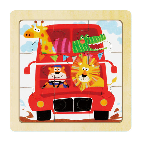 Jigsaw Puzzle 9 PCS - Animal's Happy Journey - DY905