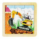 Jigsaw Puzzle 9 PCS - Powerful Excavator - DY908