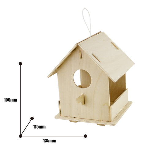 Robotime Bird House With 6 Color Pigment And Brush F196