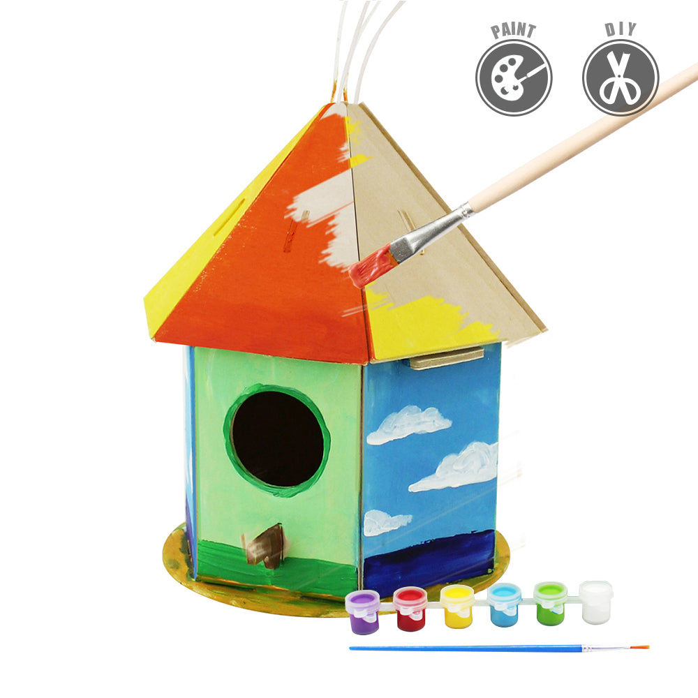 Robotime Bird House With 6 Color Pigment And Brush F197