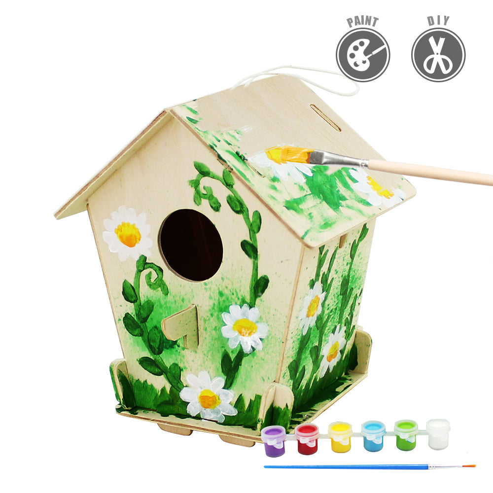 Robotime Bird House With 6 Color Pigment And Brush F198
