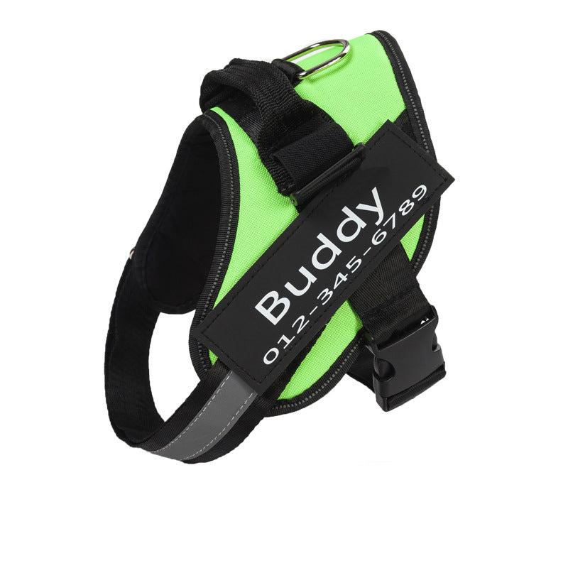 Custom Adjustable Pet Vest Harness, Front Clip Dog Harness