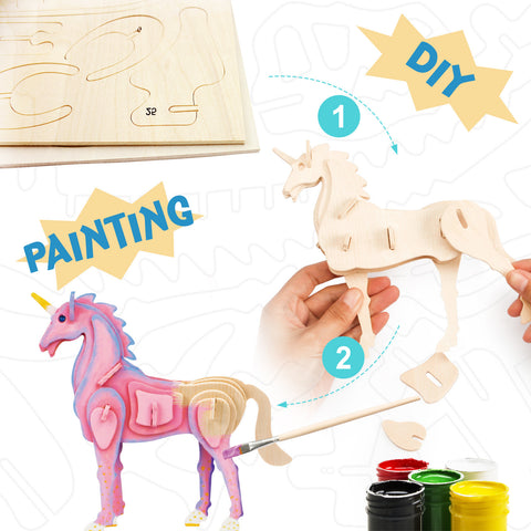 3D painting puzzle HC203 Unicorn