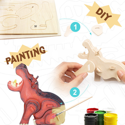 3D painting puzzle HC211 Hippo