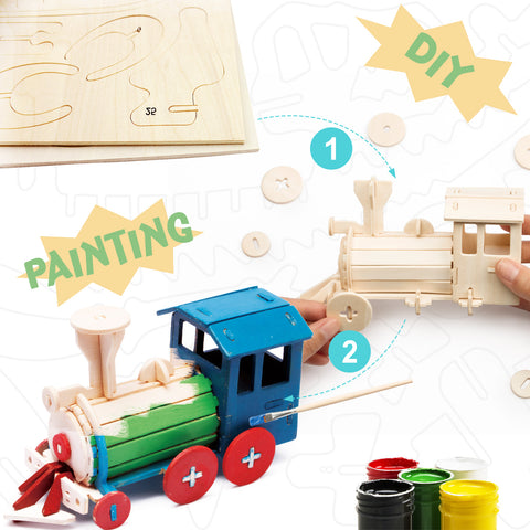 3D painting puzzle-Locomotive