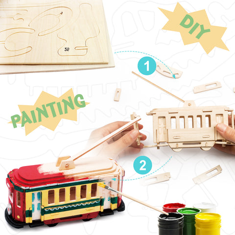 3D painting puzzle-Trolley
