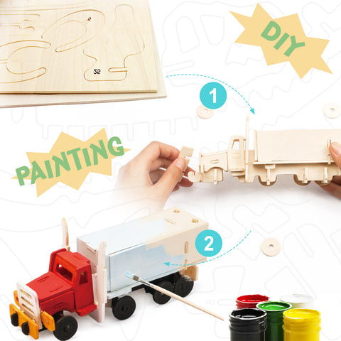 3D painting puzzle-Truck