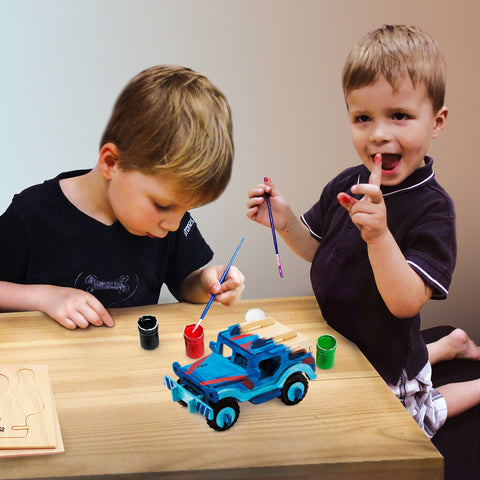 3D painting puzzle-Jeep