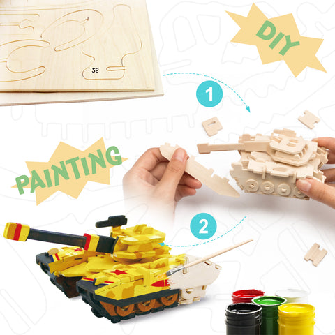 3D painting puzzle-Tank