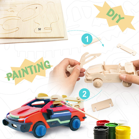 3D painting puzzle-Racing Car
