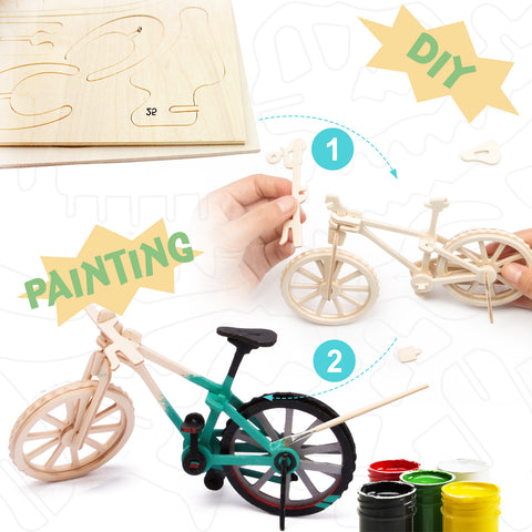 3D Painting Puzzle-Bicycle