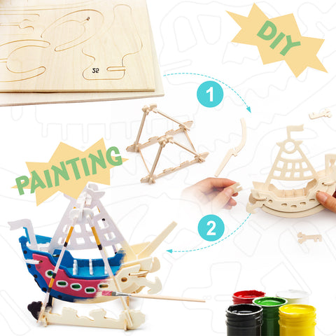 3D Painting Puzzle-Swing Boat