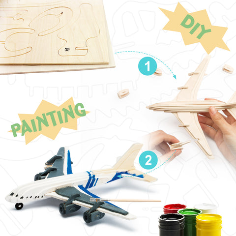 3D Painting Puzzle-Civil Airplane