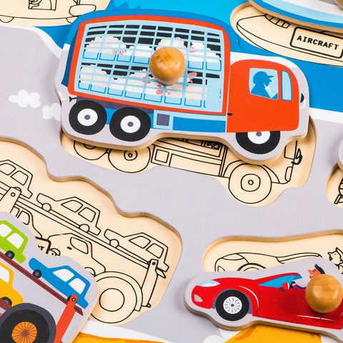 Jigsaw Puzzle-Busy Transportations HP001