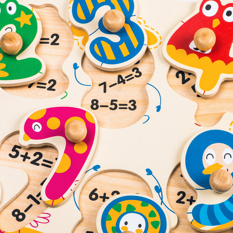 Peg Puzzle - Dancing Numbers HP002