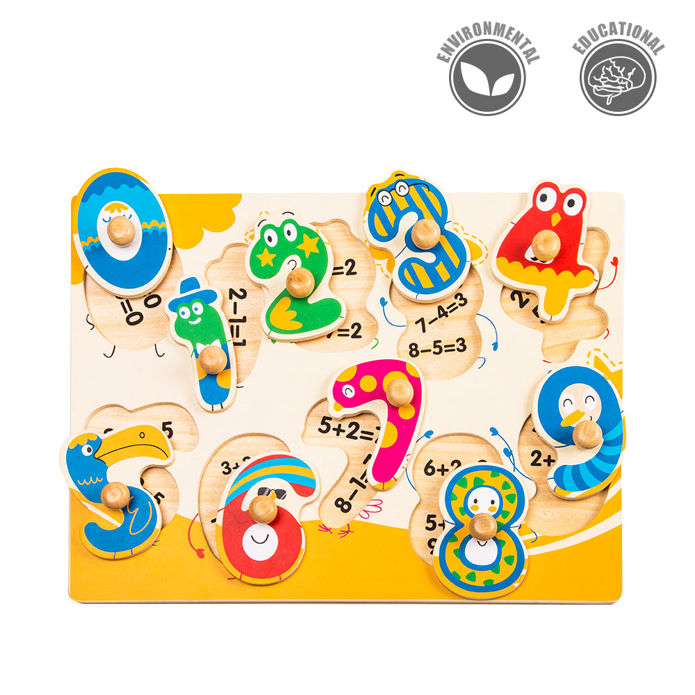 Peg Puzzle - Dancing Numbers - HP002