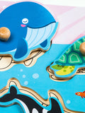 Peg Puzzle - Sea Animals - HP004