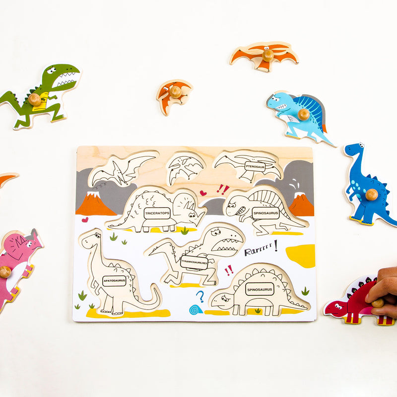 Peg Puzzle - Jurassic Dinosaurs World - HP005