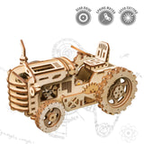 3D Puzzle Movement Assembled Wooden Tractor - LK401 NEW