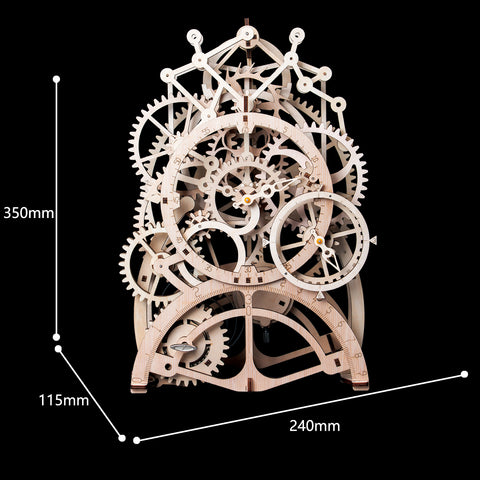 3D Puzzle Movement Assembled Wooden Pendulum clock - LK501 NEW