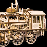 Mechanical Gears 3D Puzzle Movement Assembled Wooden Locomotive - LK701 NEW