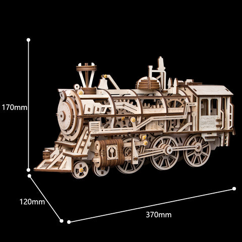 Locomotive  LK701 - Robotime Mechanical Wooden Train