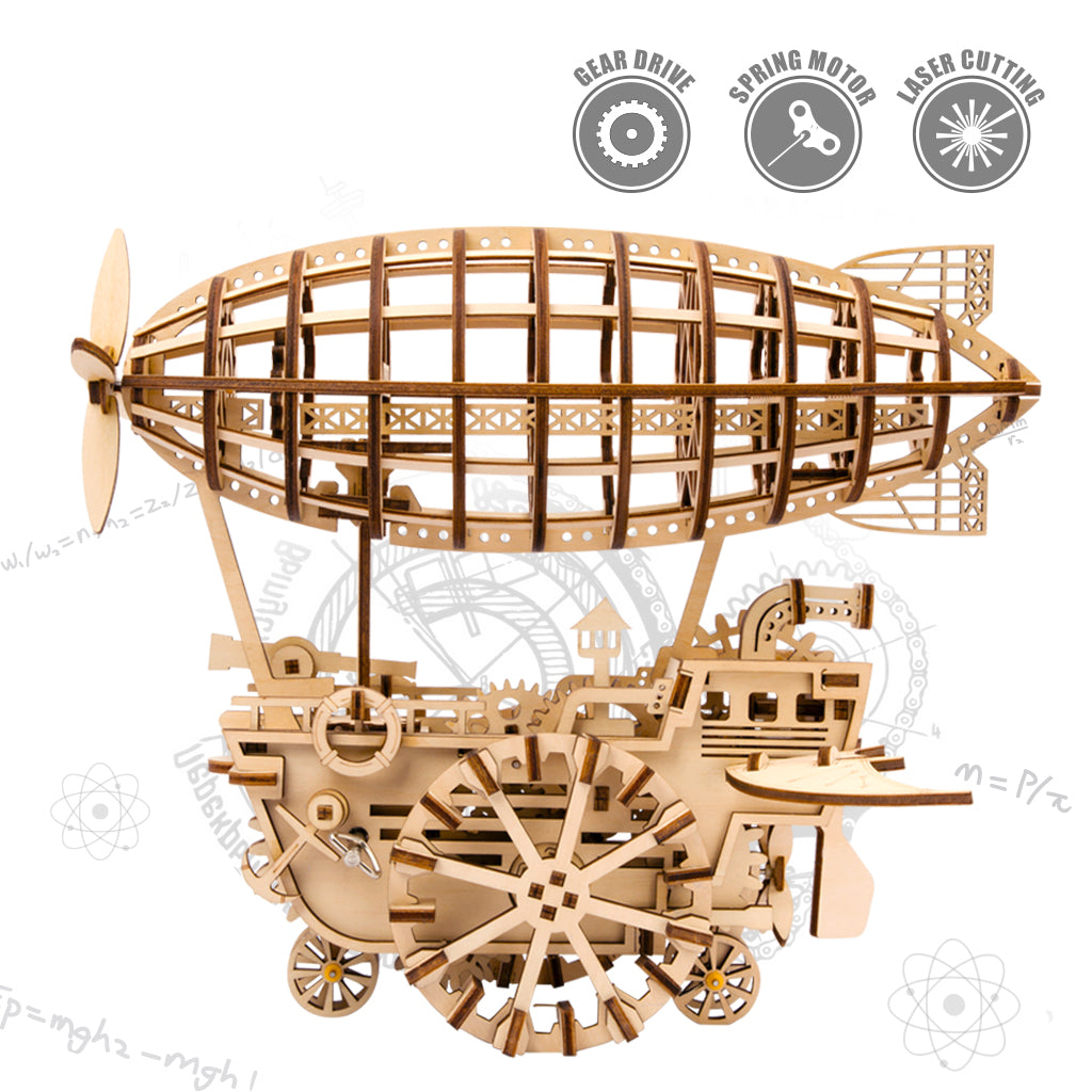 3D Puzzle Movement Assembled Wooden Air Vehicle - LK702